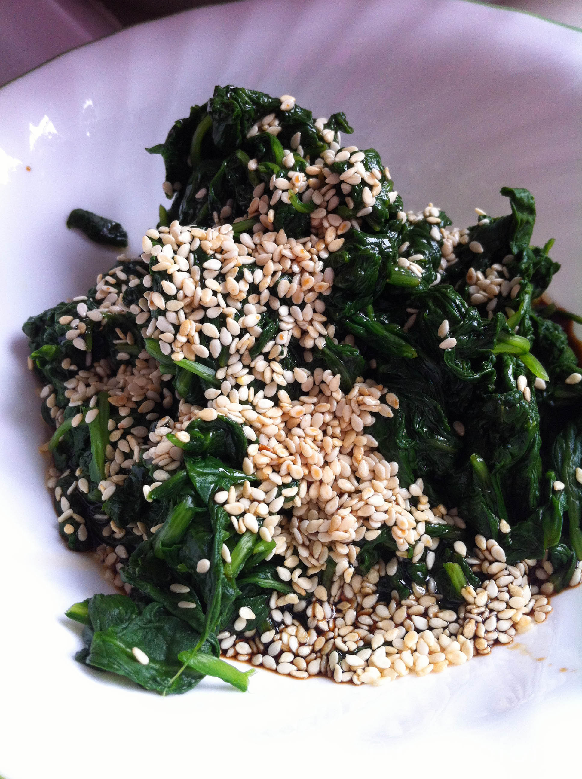Sesame Seasoned Spinach Recipe | gastrofork | Vancouver food and ...