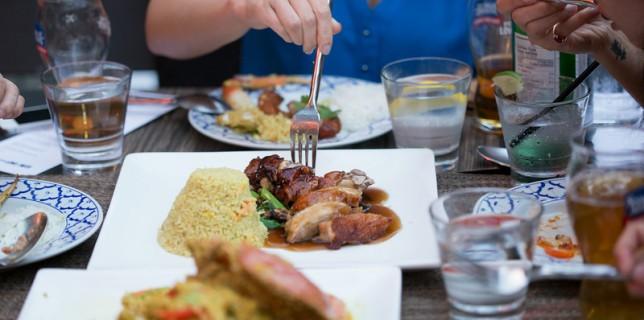 #SamInHand Samuel Adams Dinner at Urban Thai Bistro