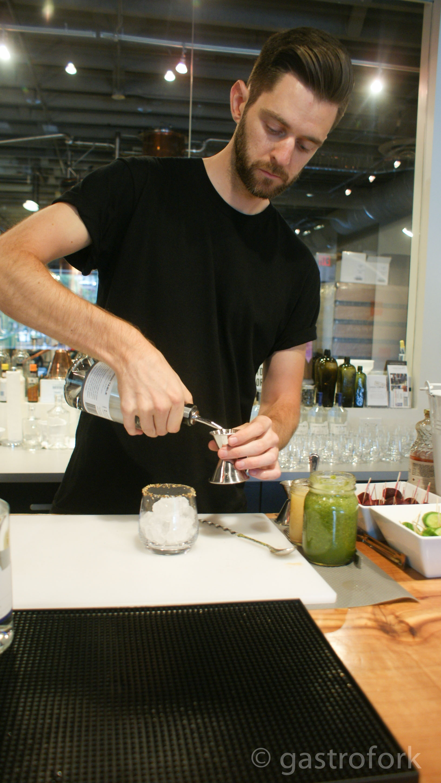 walter caesar mix x long table distillery event