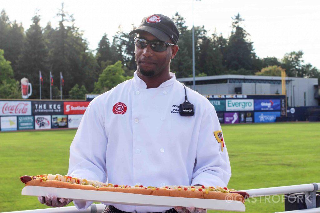 nat bailey stadium vancouver canadians food yard long hot dog chef patrick smith