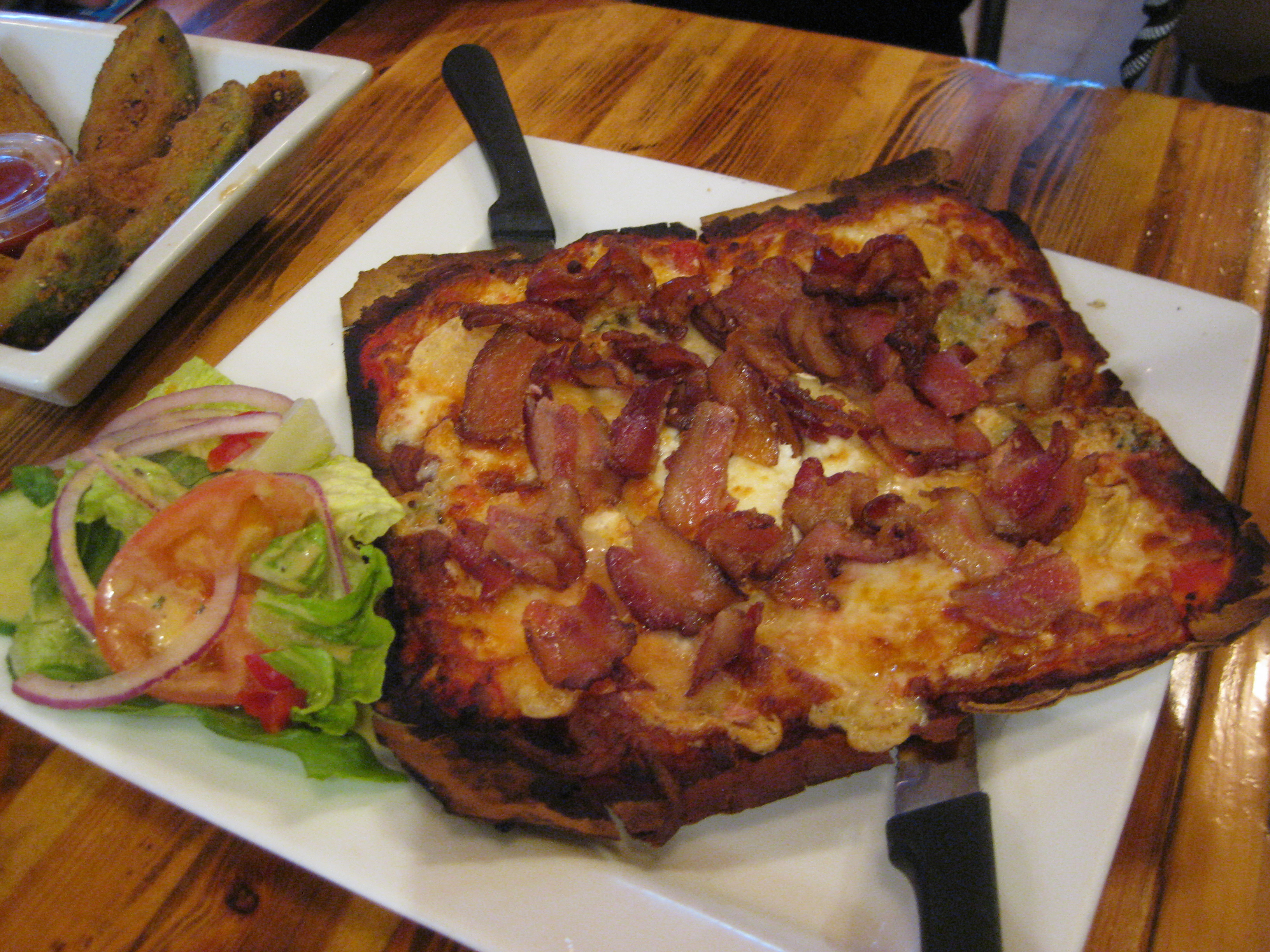 Three Cheese and Bacon Pizza - Montreal Poutine