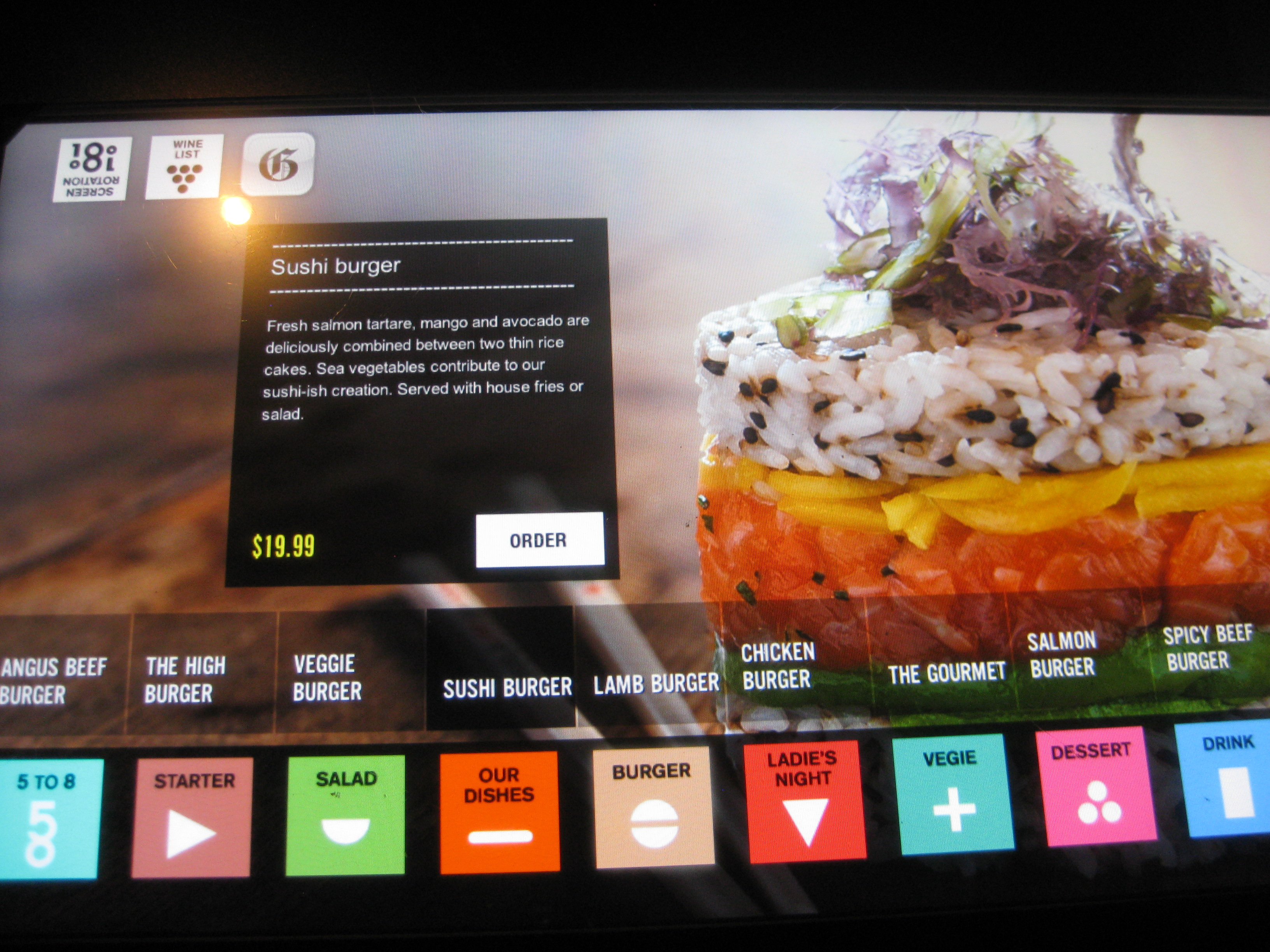 Touchscreen Menu 2 - iBurger