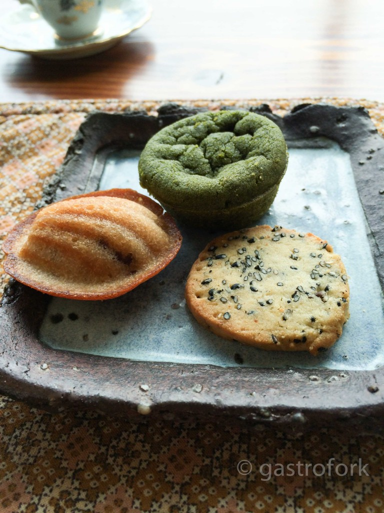 basho cafe vancouver afternoon set matcha cookies