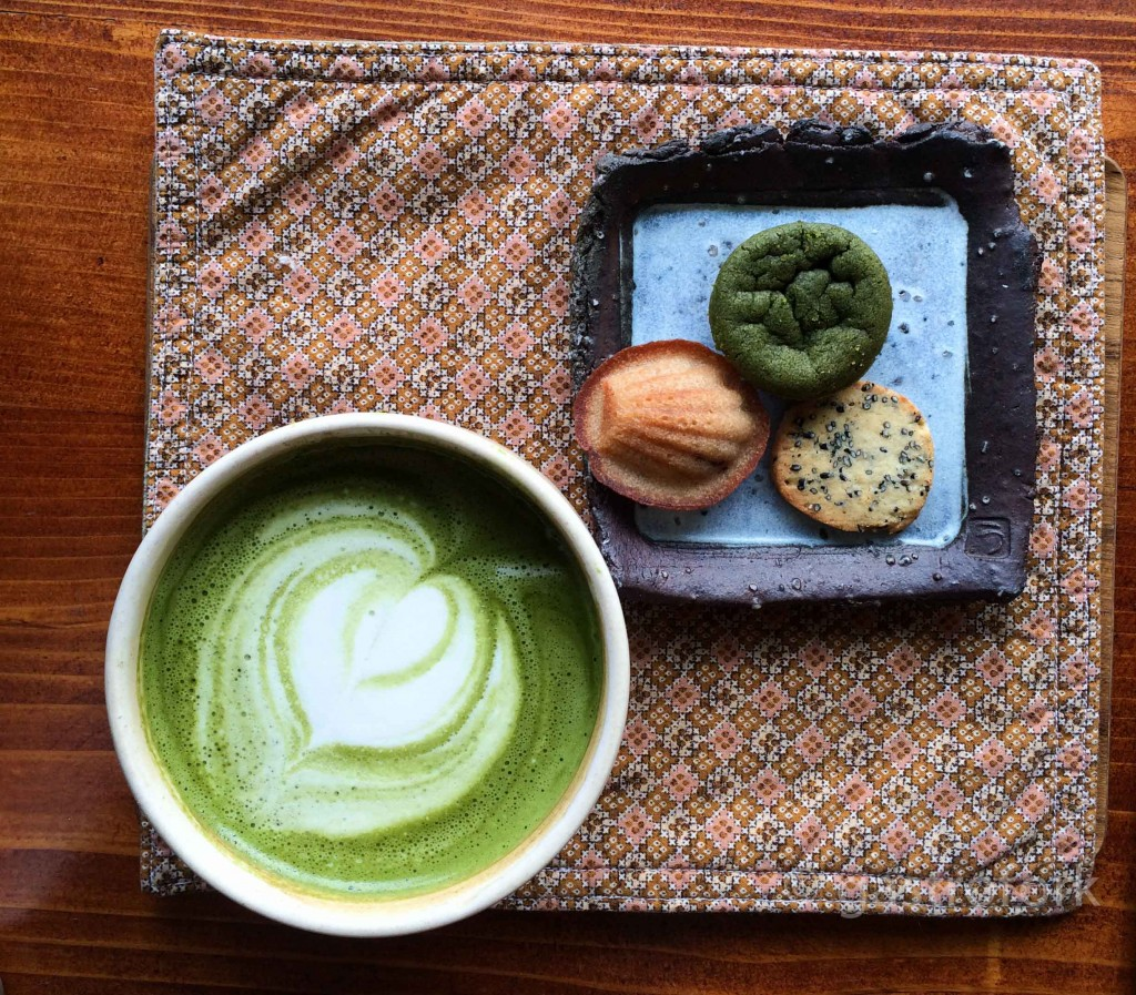 basho cafe vancouver afternoon set matcha