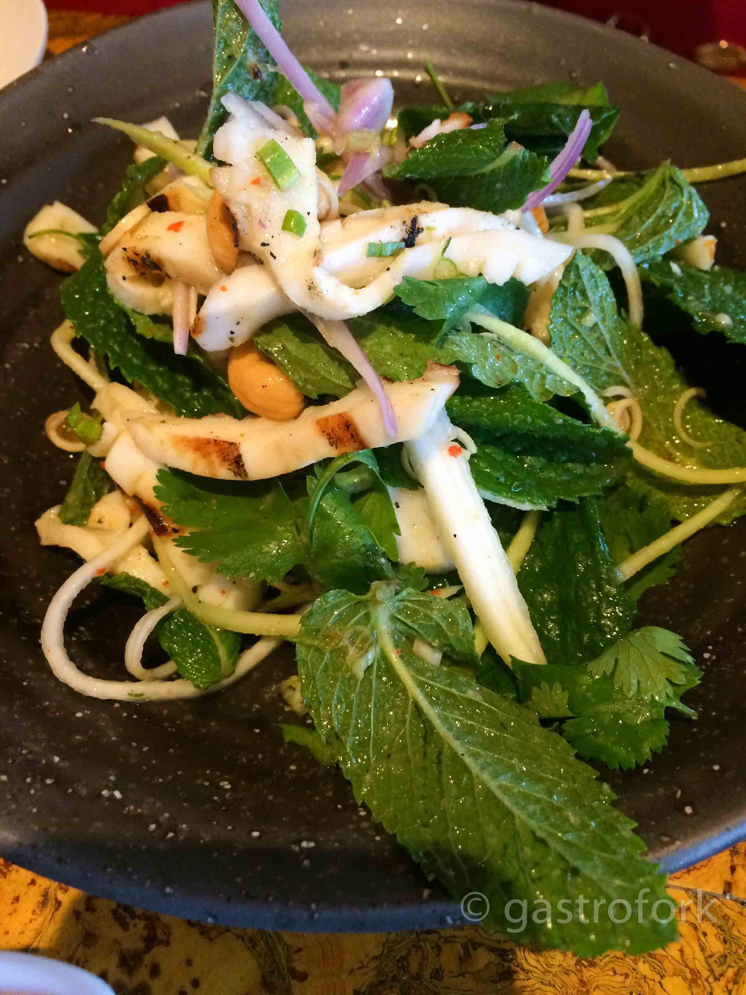 maenam humboldt squid and mint salad