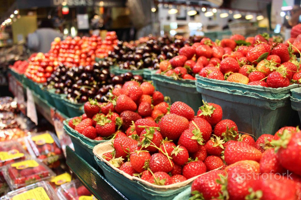 Fresh Strawberries at Granville Island Public Market