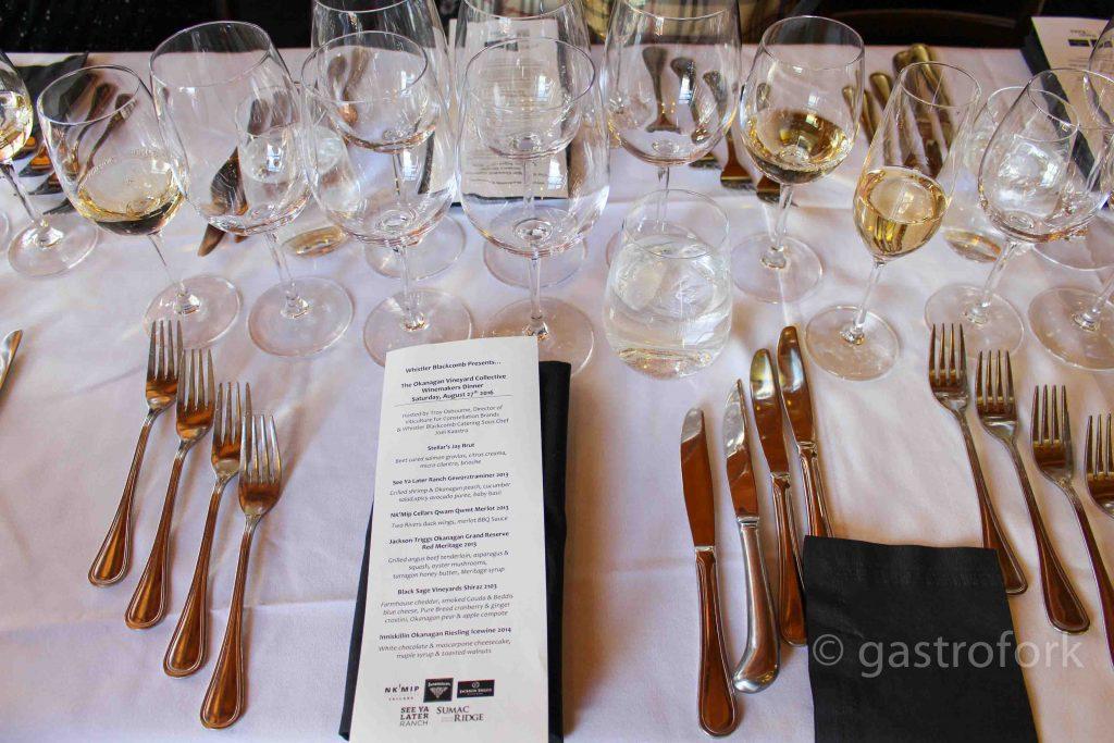 whistler blackcomb wine maker's dinner summer