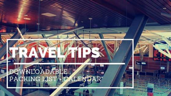 travel tips downloaded packing list and calendar