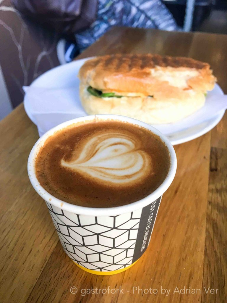 Macchiato with Veggie Paninite aro toronto