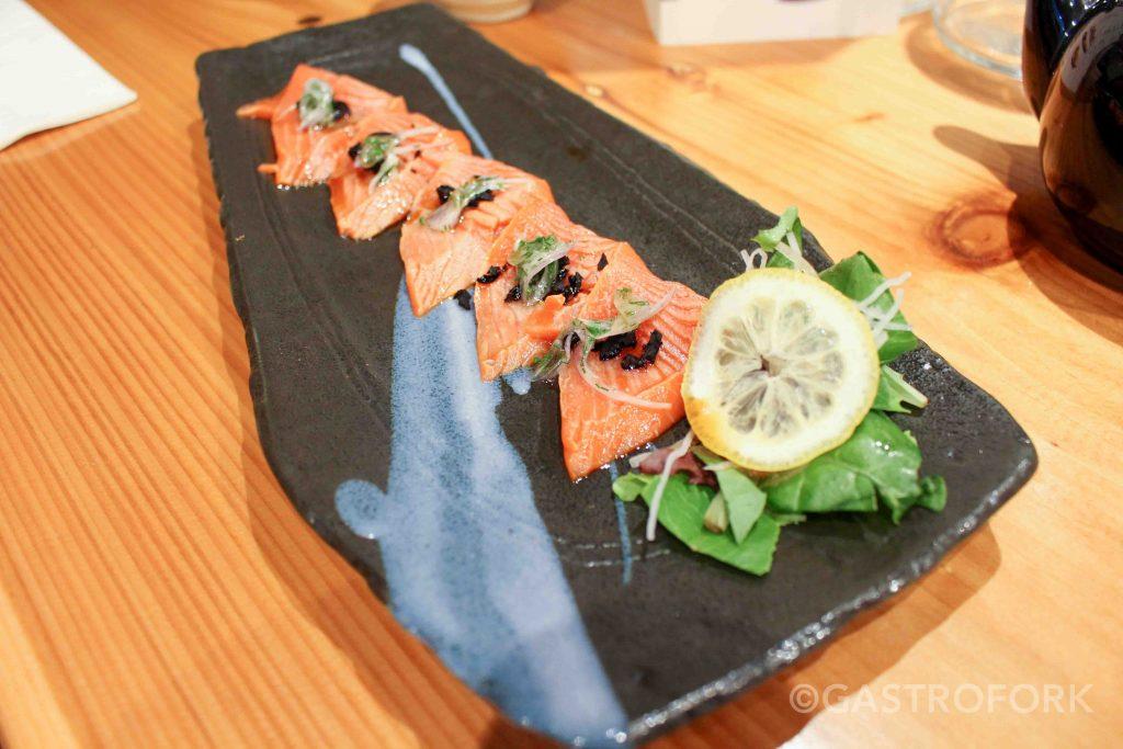 yui japanese bistro salmon carpaccio