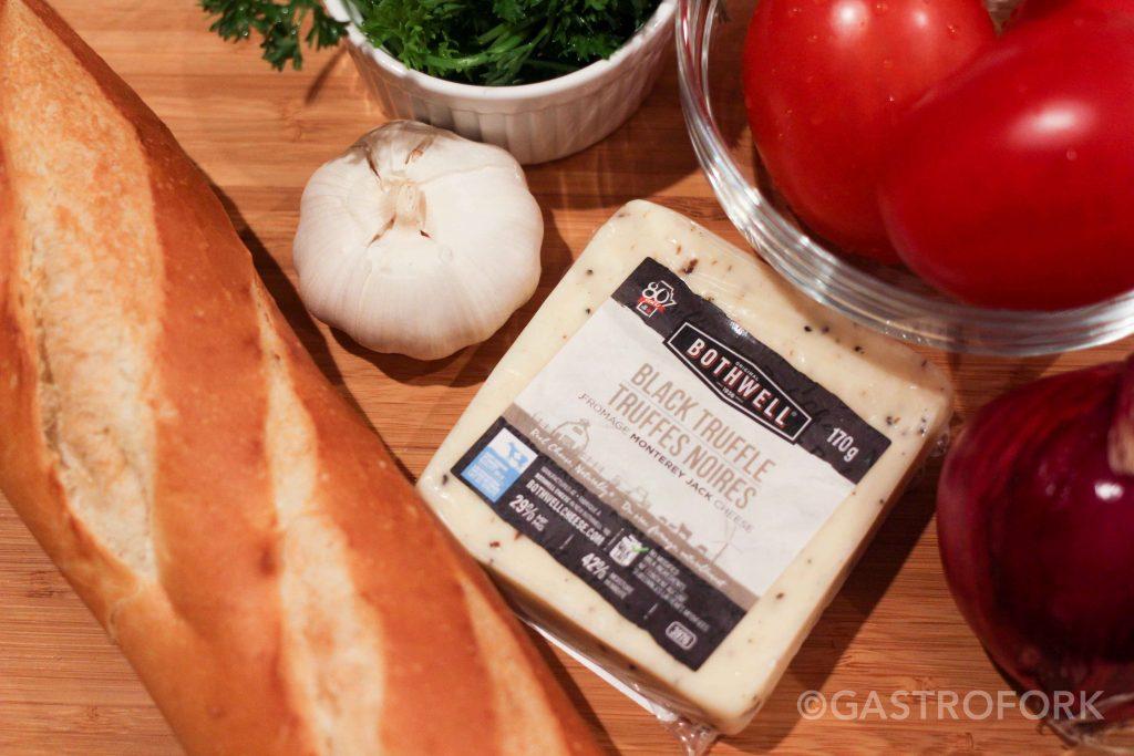 bruschetta black truffle cheese