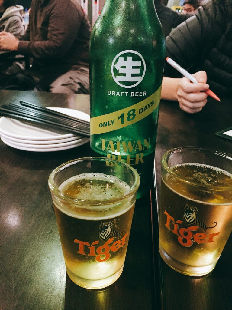 taipei taiwan food beer