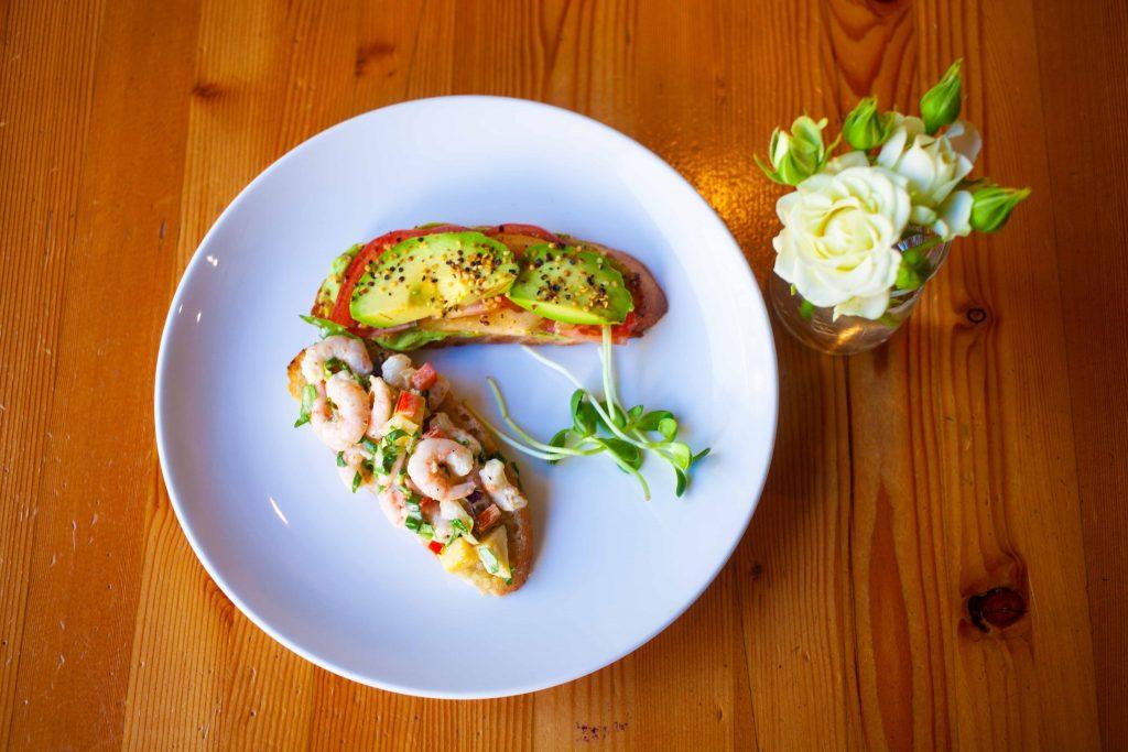 Rocky Mountain Flatbread Summer Shrimp Bruschetta