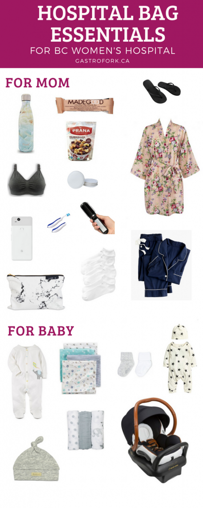 hospital bag essentials for mom and baby