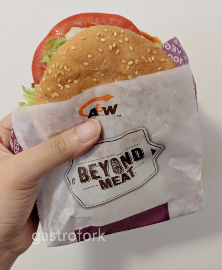 a&w beyond meat burger
