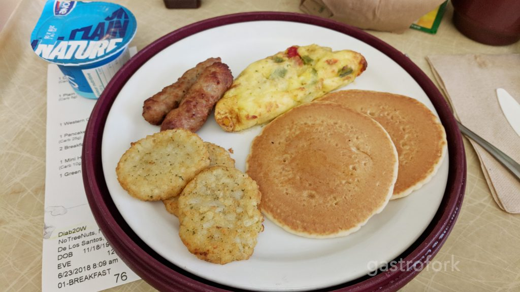 bc womens hospital food breakfast pancakes