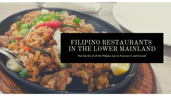 filipino restaurants in vancouver and lower mainland