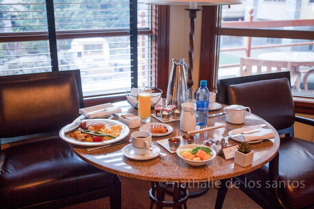 four seasons whistler bc room service