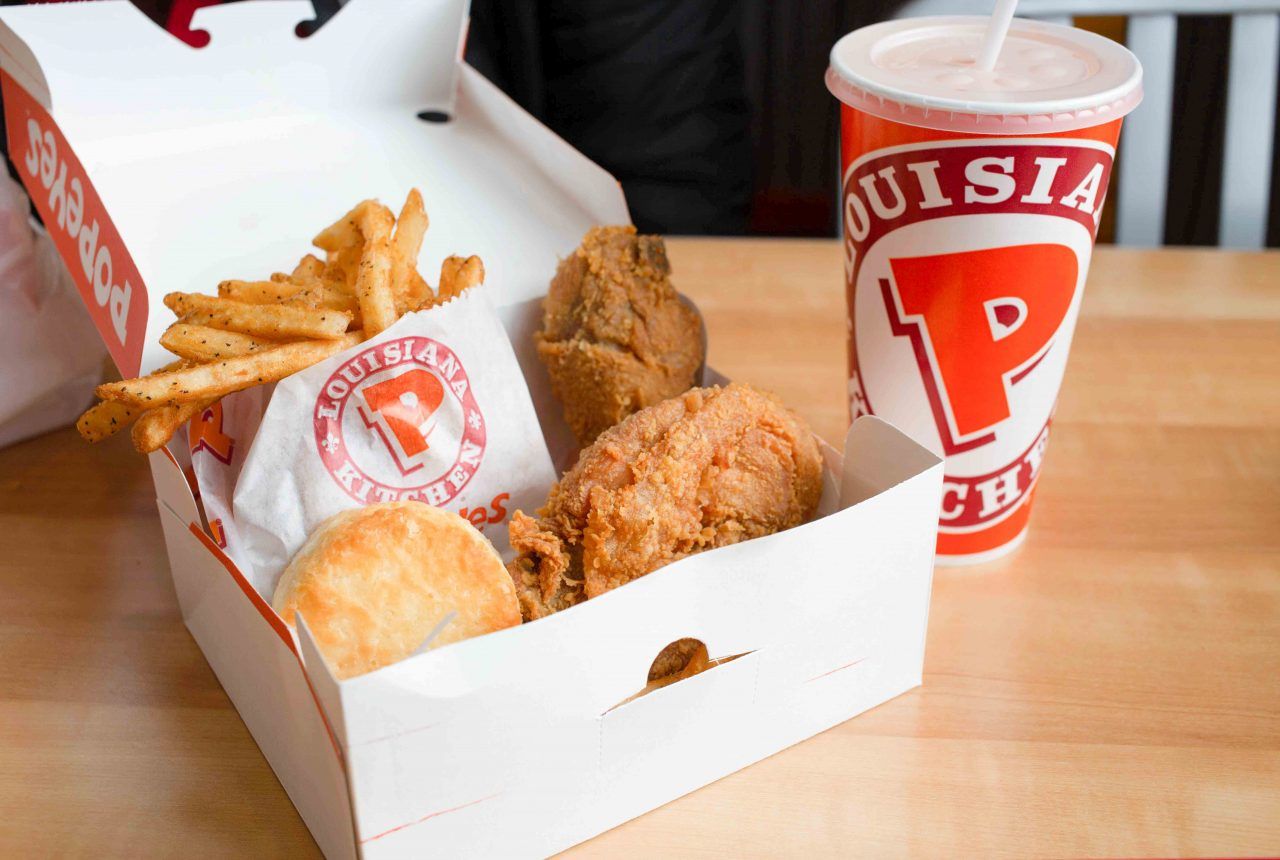 popeyes chicken 2 piece chicken combo