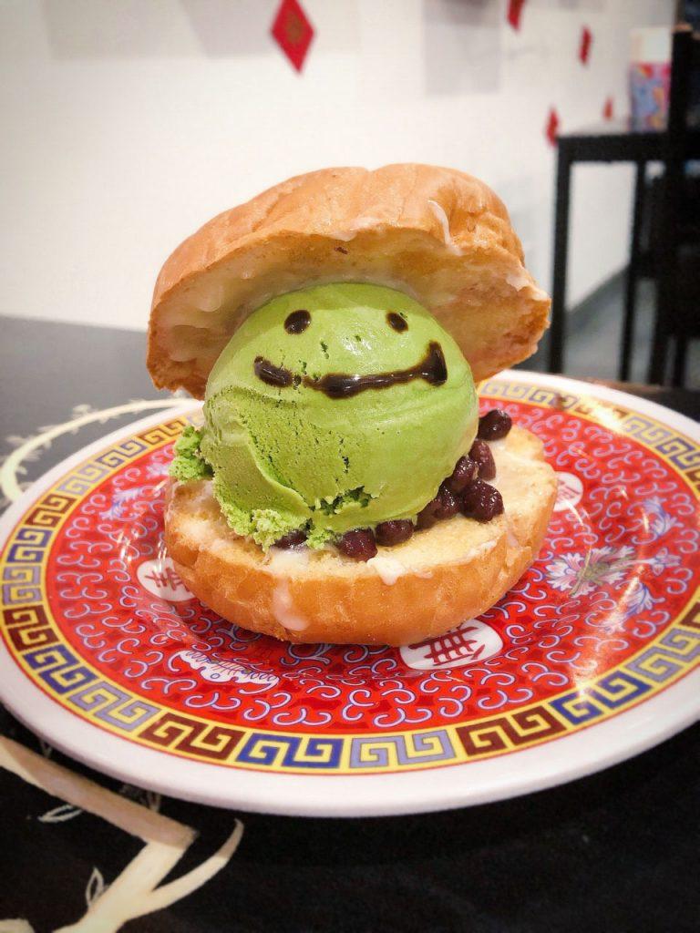 snackshot green tea red bean