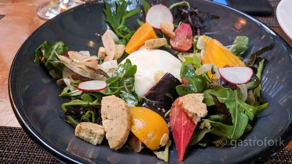yew spring 2019 burrata salad