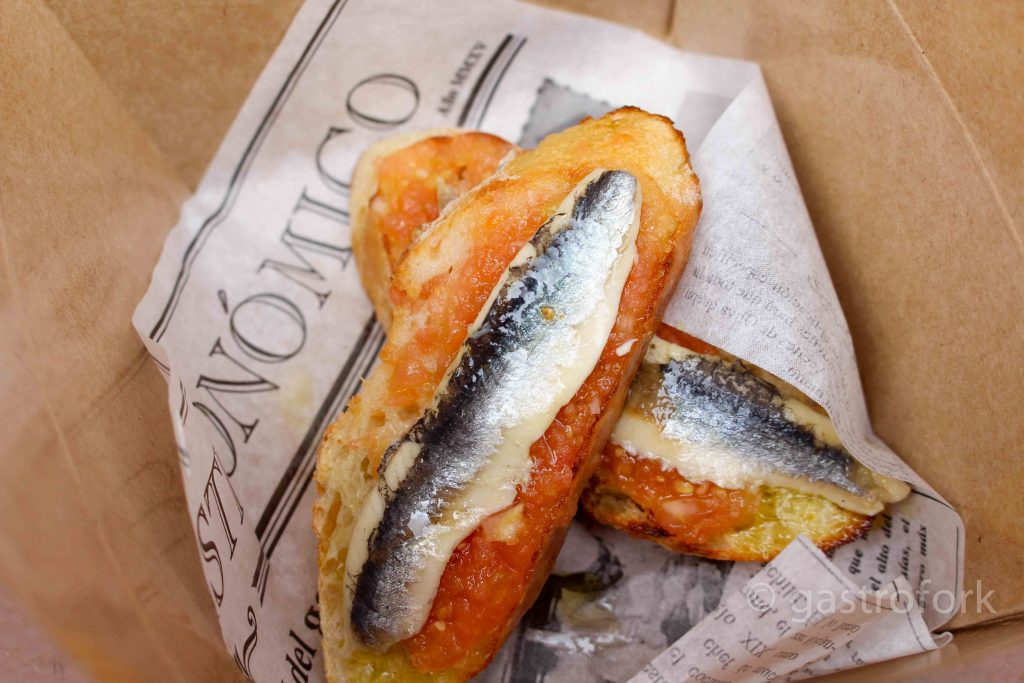 bocao food truck montadito with anchovies