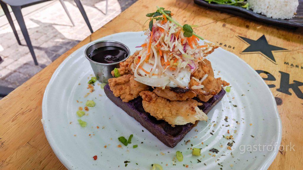 bao down ov-chicken and waffle