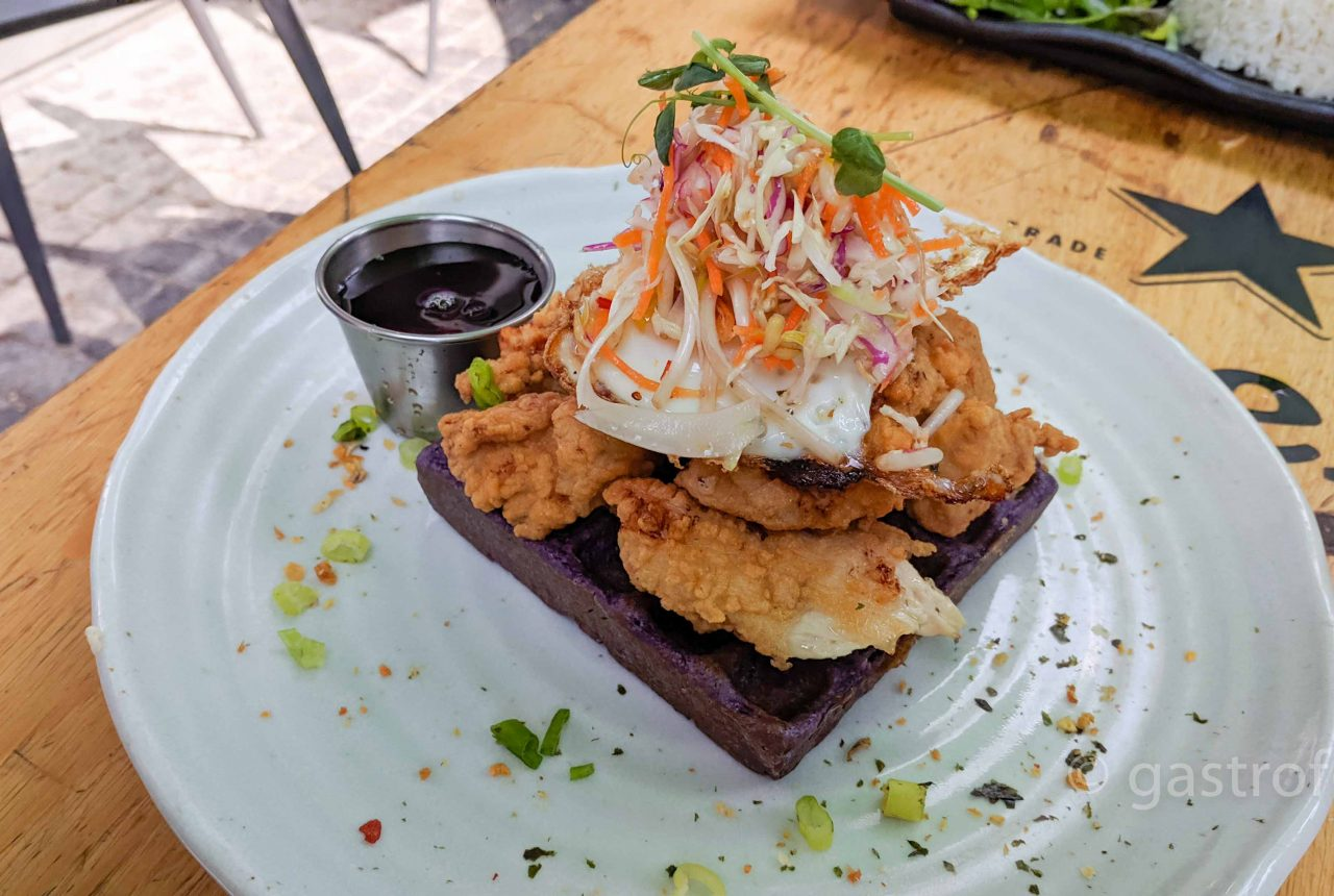 bao down ov-chicken and waffle