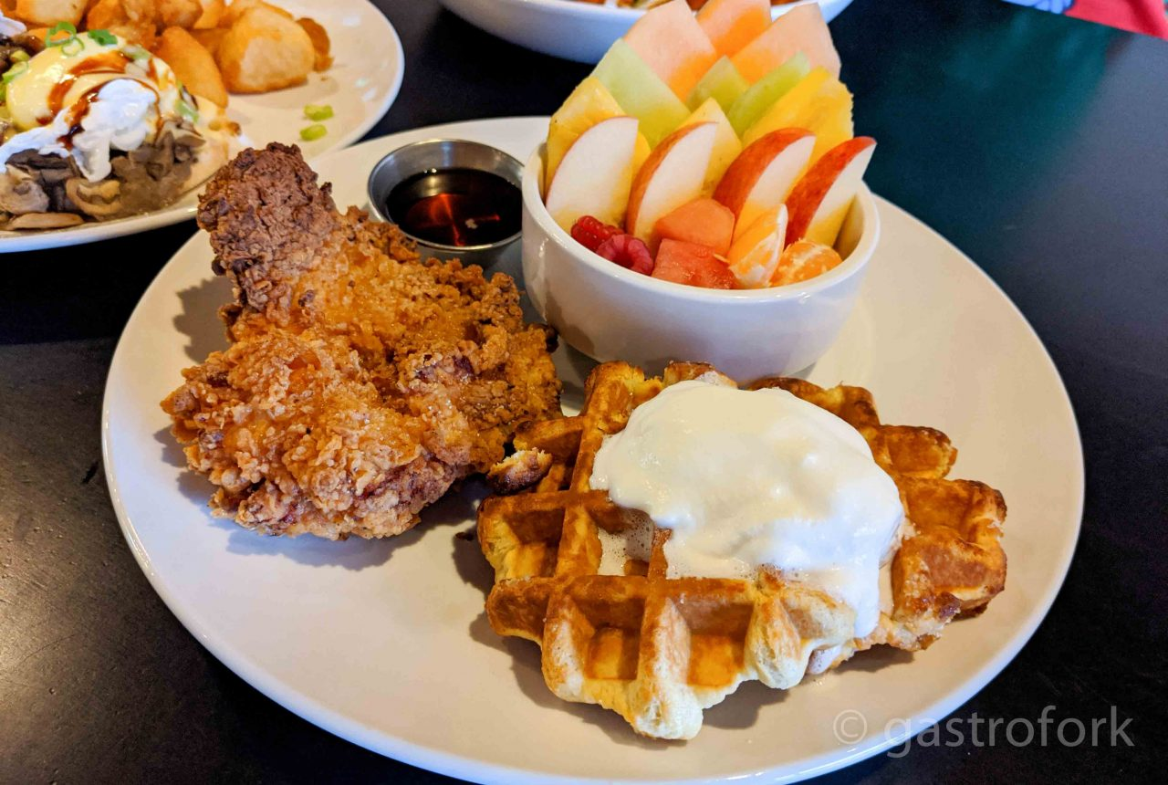 ham and eggman chicken and waffles
