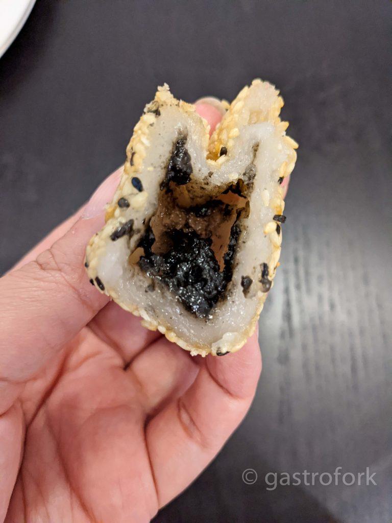 heritage eatery dim sum- black sesame ball